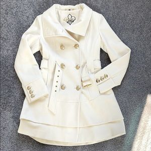 Guess pea coat with flared skirt